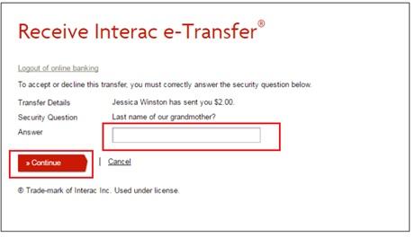 vancity-etransfer-setup-security-question