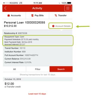 App loan details