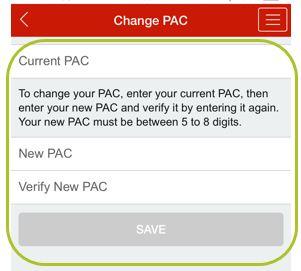 App change PAC 3