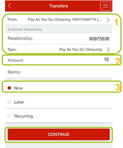 App transfer to member 5