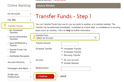 Desktop transfer funds 1