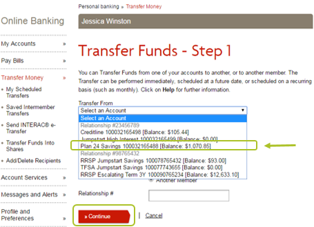 Desktop Transfer Funds 2