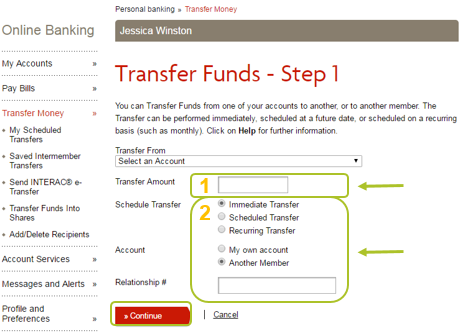 Desktop transfer funds 3