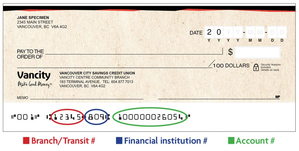 Sample void cheque