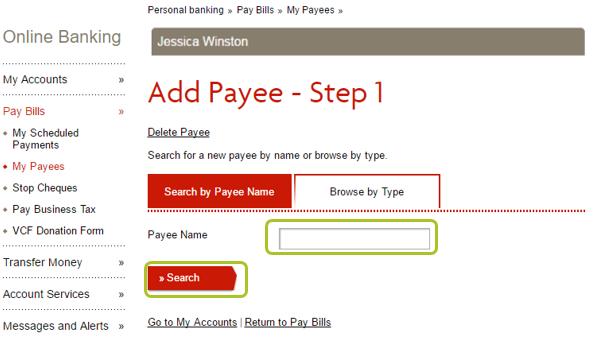 Add payee desktop 2