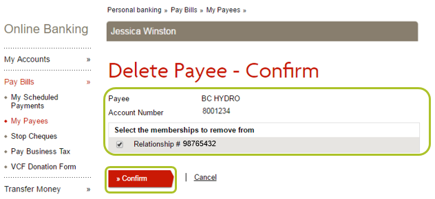 How do I add or delete a bill payee? - Learning Hub