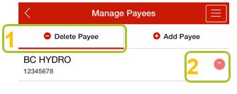 Delete payee app 2