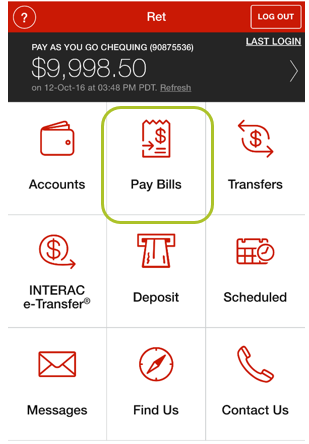 Pay bill mobile app 1