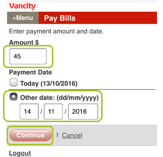 Pay bill mobile web 4