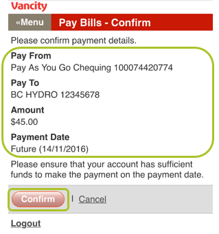 Pay bill mobile web 5