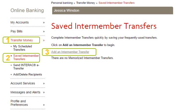 Save intermember transfer