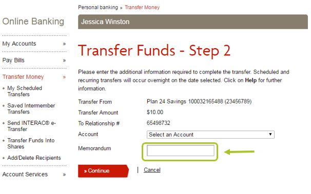 how to delete online banking transactions
