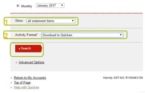 Download account activity 2
