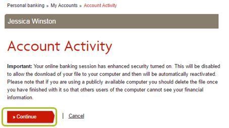 Download account activity 3