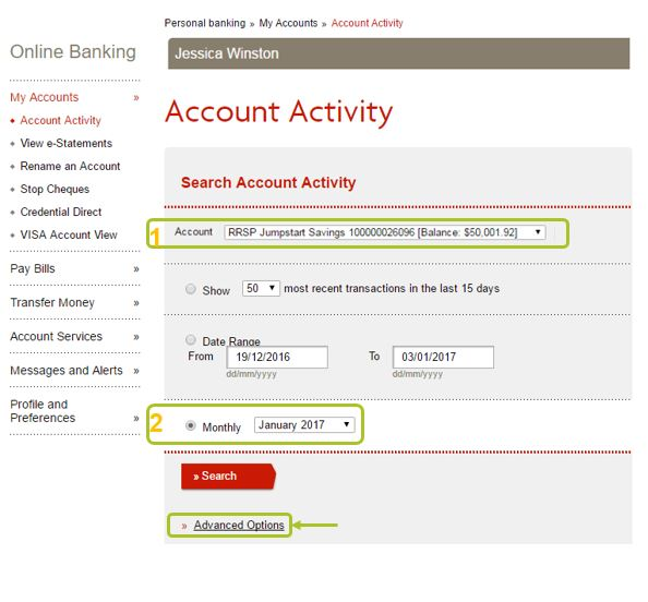 Download account activity 1