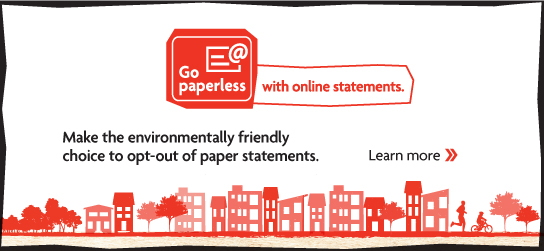 Go paperless with online statement