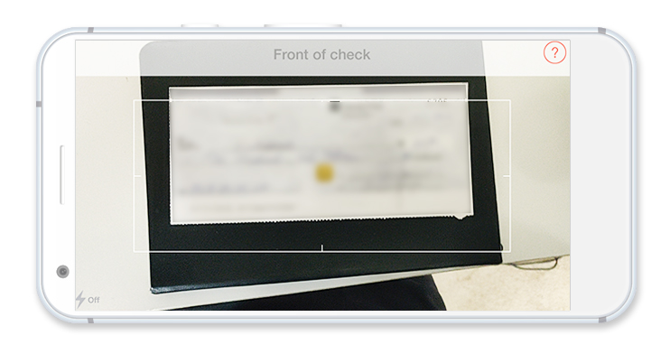 Taking a photo of a cheque using the mobile app