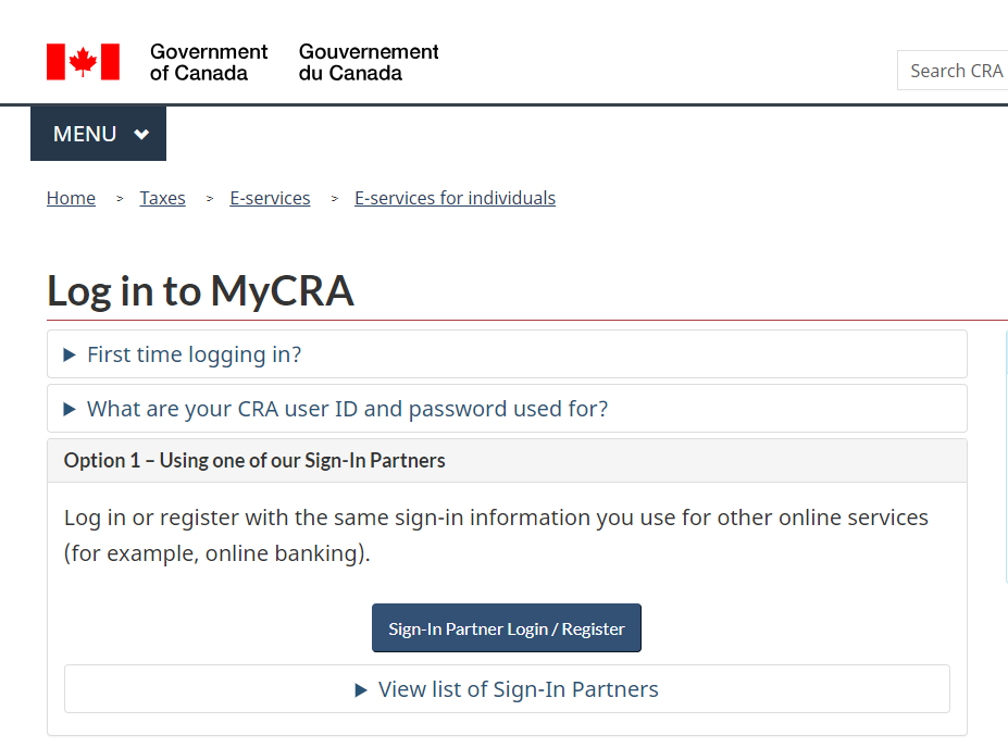 How Do I Log In To My Canada Revenue Agency Cra Account Using My Vancity Login Credentials Learning Hub