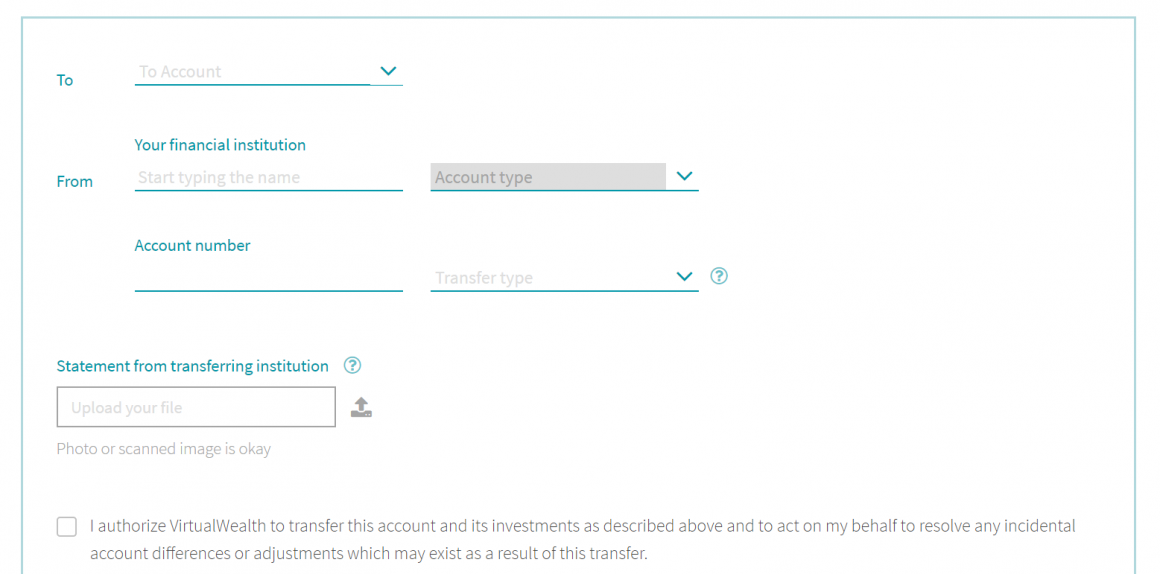 Transfer Virtual Wealth